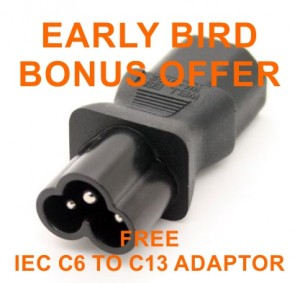IEC C6 to C13 adaptor