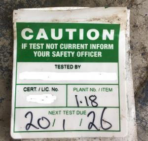 non-compliant test tag 3
