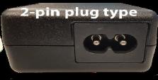 Toshiba 2-pin AC adapter